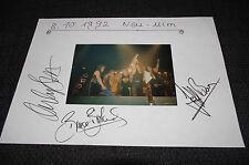 The Sweet Andy Scott, Bruce Bisland signed autógrafo en 20x30 cm carteles inperson