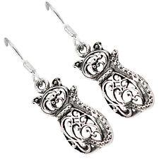 925 sterling silver filigree cat dangle earrings jewelry b1619