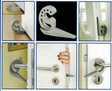Multi-Stop Stk 1 2 3 4 5 6  WENKO,Türstopper, Fensterstopper grau