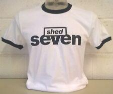 Shed Seven White/Black Ringer T-Shirt