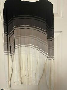 Next Mens Round Neck Stripped Jumper Size X Large