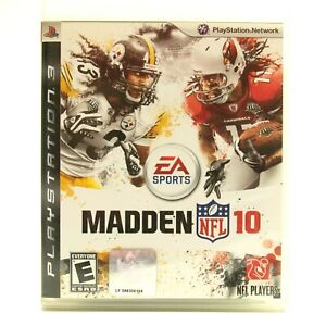PS3 Madden 10 NFL (Sony PlayStation 3 2010) Complete Free Shipping CIB w/ Manual