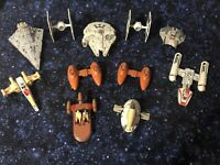11 Star Wars 1978 1980 Die Cast ship vehicle lot Tie Fighter FALCON *MAKE OFFER*