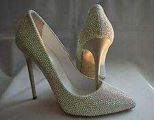 Tacón alto * talla 41 * ramo * zapatos de novia boda * * 1969-italia-boutique * nuevo * única *