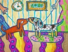 Doxie Introduction DACHSHUND lover Gift Dog Puppy Wall Art Print 8 x 10 KSAMS