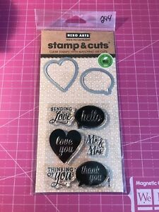 New YES  STAMP & CUT Clear Acrylic Stamps and Die Cut by HERO ARTS