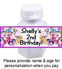 30 My Little Pony Birthday Party Bubble Labels Stickers Baby Shower Favors