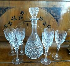 New listing Lot (7) Piece Rogaska Gallia Wine Decanter With 6 Wine Glasses