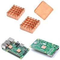 1 Set of Heatsinks 3 Pcs of Copper Heat Sink Cooling Kit for Raspberry Pi 3 5ai