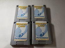 4  GRAY PERFORMANCE 256K MEMORY CARDS CONTROLLER PAK PACK for NINTENDO 64 N64 J8