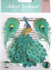 JOLEE'S BOUTIQUE PEACOCK Bird Elegant Scrapbook Craft Stickers Embellishment