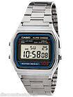 Casio A158W-1 Men's Vintage Digital Watch - Metal Band, A158WA-1