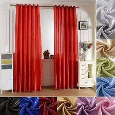 Luruxy Panel Blackout Balcony Window Curtain Shade Drape Home Room Solid Decor