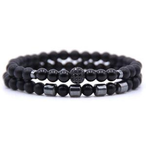 ⭐ 2er Set Partner Pearl Bracelet/Natural Stone Beads/Friendship Bracelet Type 2