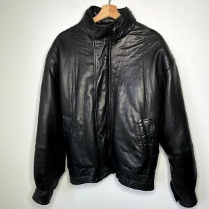 Marc By Andrew Marc Black Leather Bomber Riding Jacket Size M *Great*