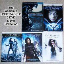 Good Halloween Movies UNDERWORLD Complete Vampires Werewolves Saga 5 DVD Lot Set