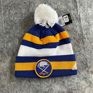 NEW Buffalo Sabers Hat Adidas NHL Knit Beanie Pom Blue White Winter Classic NHL