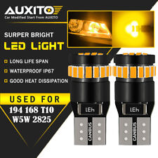 2X AUXITO Amber Yellow 168 194 921 License Side Marker Light Canbus LED Bulb EOA