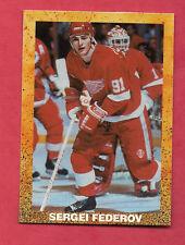 RARE 1990 RED WINGS SERGEI FEDEROV  ROOKIE YEAR  CARD