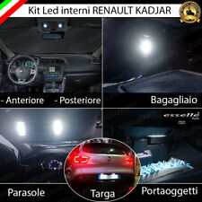 KIT LED INTERNI ABITACOLO RENAULT KADJAR CONVERSIONE COMPLETA + LUCI TARGA LED