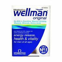 Wellman Original Vitabiotics | Energy Release, Health & Vitality 30 Tablets