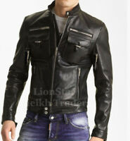 Lionstar Retro SWAT Biker Bomber Style Motorbike Motorcycle Real Leather Vest