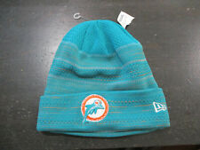 NEW New Era Miami Dolphins Beanie Hat Cap Green Football One Size Knit Men A7