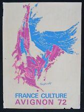 Affiche FRANCE CULTURE FESTIVAL AVIGNON 1972 - GIOVANNI PASZKOWSKI - 389