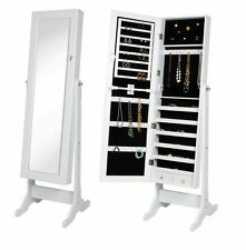 NEW Full Length Mirror Cheval Jewelry Storage Armoire Tilting Cabinet Organizer