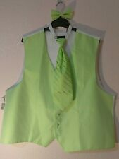 """New Men's Warehouse Outlet Vest/Tie Set """"PRONTO UOMO"""" Size XXXL FREE SHIPPING"""