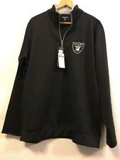 Oakland Raiders Half Zip Pull Over Black Sz XL NWT(c6)