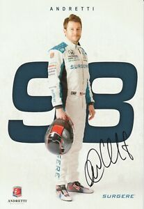 LAST one 2020 MARCO ANDRETTI signed INDIANAPOLIS 500 HERO PHOTO CARD INDY CAR