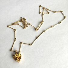 Vintage 1977 Björn Weckström Lapponia 585 gold Heart pendant & chain Finland
