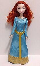 "Disney's Brave Princess Merida Barbie Doll 11"" Light Blue and Gold Gown"