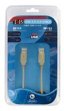 T'nB USB2AMAM03 Câble USB 2.0 Mâle/Mâle 3 mètres