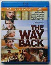 THE WAY BACK Blu-ray DVD Hybrid Flipper Disc Peter Weir Ed Harris Colin Farrell