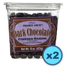 (2-pack) Trader Joes Dark Chocolate Covered Raisins (15 oz ea)FREE SHIPPING