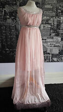 Grecian look Sequinned dress (Pink) Wedding, Bridesmaid, Prom, Ball, Cruise etc