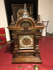 Antique 1890's Extravagant German Lenzkirch Table Clock - Really Nice
