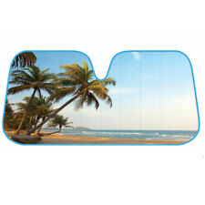 Auto Car Sun Shade Tropical Island Tree Design - Double Bubble Jumbo Sunshade
