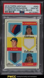 2018 Topps Heritage Clubhouse Triple Syndergaard Ryan DeGrom PATCH /25 PSA 10