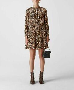 WHISTLE ANIMAL PRINT SHIRT DRESS RRP  £149