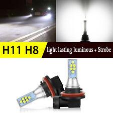 2x H8 H11 6000K Purre White 36W LED  Flash Strobe Fog Light Driving Bulb DRL