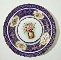 "RARE KPM Berlin Porcelain Cabinet Plate Cobalt Blue1844-1847(eagle mark) 12"""