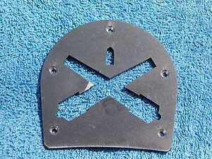 Brogan or Boot Heel Plate-crossed Parrott rifle