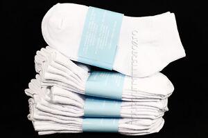 6-8 Kids School Ankle Cut Comfort Solid White Unisex Socks Cotton Spandex Junior