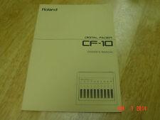 Original Manual for Roland CF-10 Digital Fader  From 1989 LQQK!