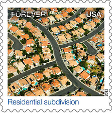 US 4710k Earthscapes Residential subdivision forever single MNH 2012