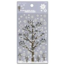 CUTE SNOWFLAKE STICKERS Holiday Winter Snow Christmas Craft Scrapbook Sticker