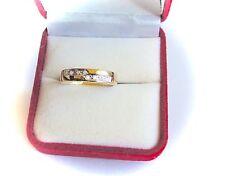 9K Solid Gold 8 Diamond Wedding Ring. (Sz 7.5)